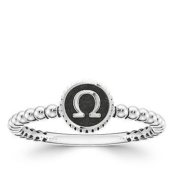 BIXLER Symbol 'Omega' Fashion Ring In Sterling Silver