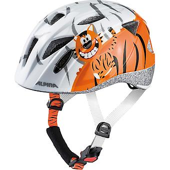 Alpina Ximo child bicycle helmet / / white little tiger