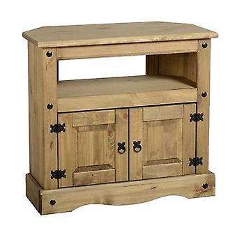 Corona Corner TV Cabinet distressed voks Pine