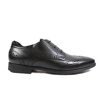 Chaussures d'école Startrite Tailor Black Leather Boys Lace Up Brogue