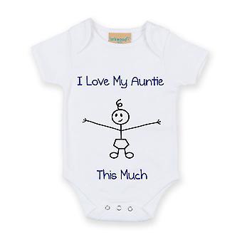 Milujem svoje Auntie toľko chlapcov biele Baby Grow