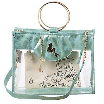 Hand Bag - The Little Mermaid - Clear Tote with Removeable Pouch New lt7tfddsy