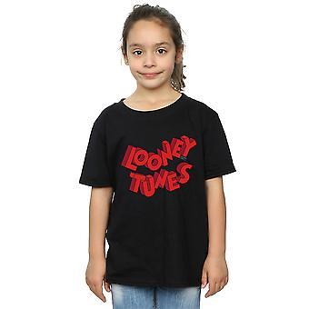 لوني تونز الفتيات 3D شعار تي شيرت