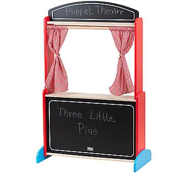 Tidlo Houten Puppet Theatre Podium Kind Roleplay Pretend Play