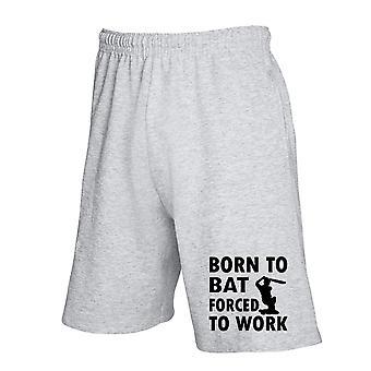 Pantaloncini tuta grigio wtc1066 born to bat forced to work