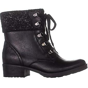BareTraps Womens Orley Fabric Closed Toe Ankle Fashion Boots, Black Size 5 M