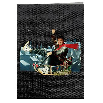 TV Times Singer Cliff Richard On A Sledge Christmas 1990 Greeting Card