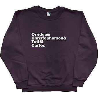 Sweatshirt noir Gristle Line-Up Throbbing