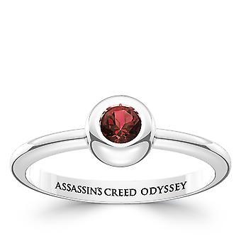 Vermoord 'apos; s Creed Odyssey Garnet ring in Sterling Zilver ontwerp door BIXLER