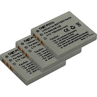 3 x Dot.Foto Sanyo DB-L20, DB-L20AEX, DB-L20EX Replacement Battery - 3.7v / 720mAh