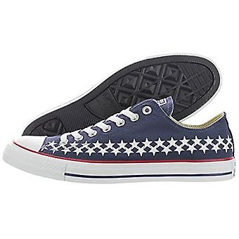 Converse Herren Ctas Ox Low Top Lace Up Fashion Sneakers, Navy/Rot/Weiß, Größe 5.0