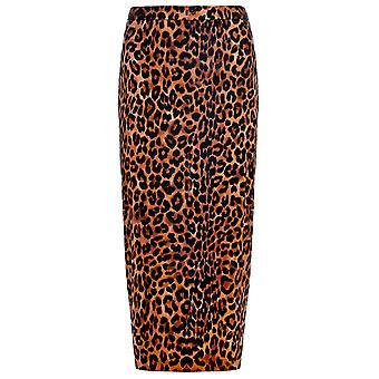 Joy Amabe Leopard Print Pencil Skirt