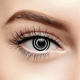 Black Spiral Halloween Coloured Contact Lenses (90 Day)