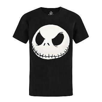 The Nightmare Before Christmas Jack Skellington Face Men's Novelty T-shirt
