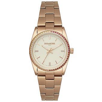 Zadig & Voltaire ZVF411 orologio - orologio in acciaio oro rosa quadrante rosa donna