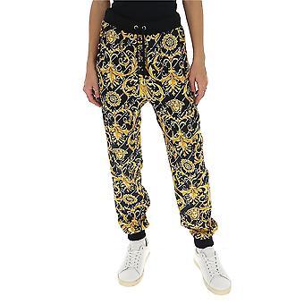 Versace A85703a232981a7900 Women's Black/gold Silk Pants