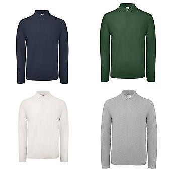 B&C ID.001 Mens Long Sleeve Polo (Pack of 2)