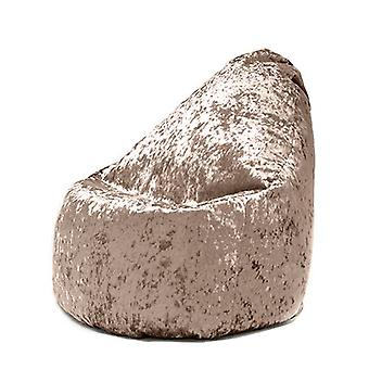 Hippo Crushed Velvet Look 'Bijou' Gaming Lounger Bean Bag (Bling Chocolate)