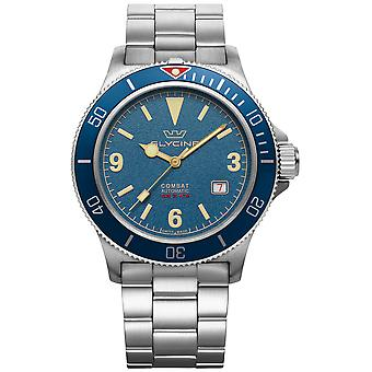 Combat Vintage Analog Men's Automatic Watch with GL0260 Stainless Steel Bracelet