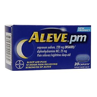Aleve pm durere reliever, somn pe timp de noapte-ajutor, caplets, 20 ea