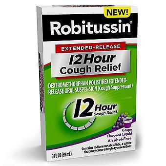 Robitussin cu eliberare prelungită de 12 ore, supresor de tuse, struguri, 3 oz