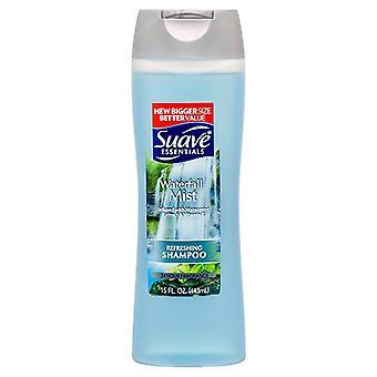 Suave essentials refreshing shampoo, waterfall mist, 15 oz