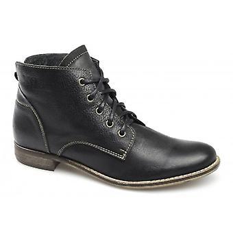 Xti Yvette Ladies Soft Leather Boots Black