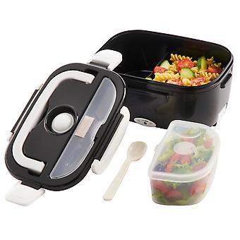 Kabalo Black Electric fűtött hordozható kompakt élelmiszer melegítő ebéd Bento Box 40W 1.5 L Egyesült Királyság