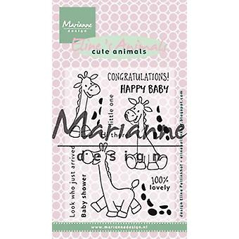 Marianne Design Clear Stamp - Eline's Giraffe EC0169