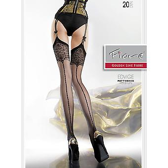 Fiore Edvige Seamed Pattern Top Stockings