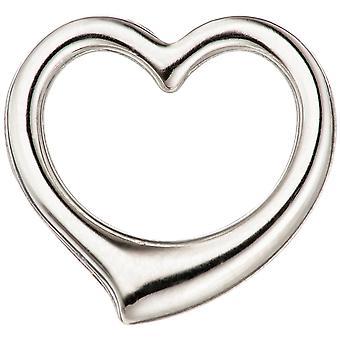 السيدات قلادة القلب سوينغ القلب 585 الذهب الذهب الذهب قلادة القلب الأبيض الذهب القلب