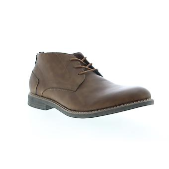Izod Inwood Mens Brown Leather Mid Top Lace Up Chukkas Boots