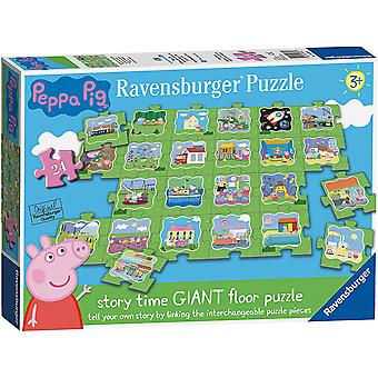 Ravensburger Peppa Pig Tell A Story Floor Puzzle 24 Piece  Jigsaw Puzzle