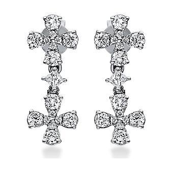 Diamond earrings earrings - 18K 750/- white gold - 0.51 ct. - 2H089W8-1