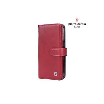 Pierre Cardin Apprendre Portefeuille Case Case Samsung Galaxy S7 Edge - Rouge