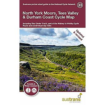North York Moors - Tees Valley & Durham Coast Cycle Map - Includin
