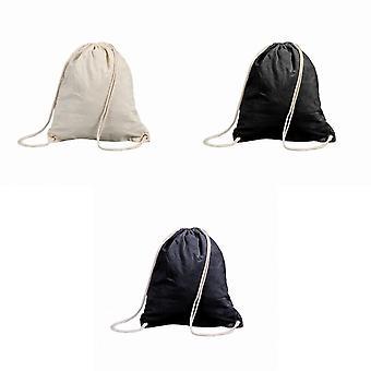 Shugon Stafford Cotton Drawstring Tote Backpack Bag - 13 Litres