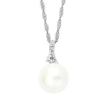Amor Donna  925  Argento   Perla d'acqua dolce bianco Ossido di zirconio FINENECKLACEBRACELETANKLET