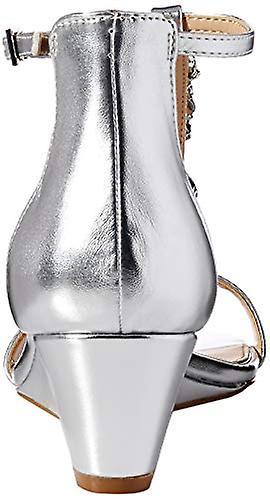 Jewel Badgley Mischka Kobiety's DARRELL Sandały, srebro / metaliczny, 7,5 M USA ke9hR