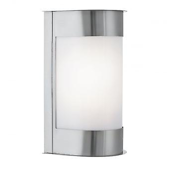 Proiettore all'aperto & portico verticale curvo parete Plafoniere In argento satinato finitura