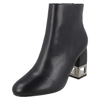 Spot på dame/damer metal hæl ankel støvler