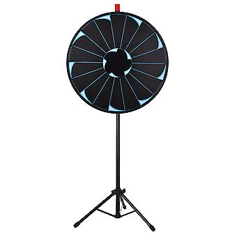 """WinSpin® 30"""" Editable Prize Wheel of Fortune 18 Slot Floor Stand Tripod Spinning Game Tradeshow Carnival"""