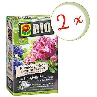 Sparset: 2 x COMPO BIO Rhododendron und Hortensien Langzeit-Dünger mit Schafwolle, 2 kg