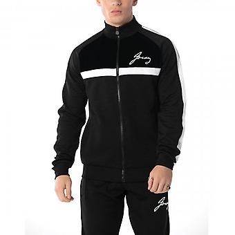 Foray Marlon Poly/Velour Track Top Black