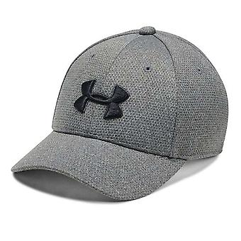 Under Armour Heathered Blitzing Kids Stretch Fit Baseball Cap Hat Grey