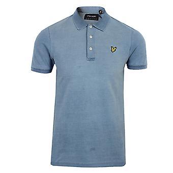 Lyle & scott men's light indigo polo shirt