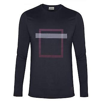 CC Collection Corneliani Navy Square Print T-Shirt