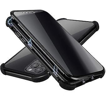 Boîtier mobile en verre trempé à double face pour iPhone 11 Pro - noir