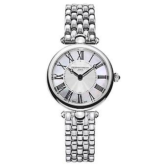 Frederique Constant Women's Art Déco |Stainless Steel Bracelet |Mother Of Pearl FC-200MPW2AR6B Watch