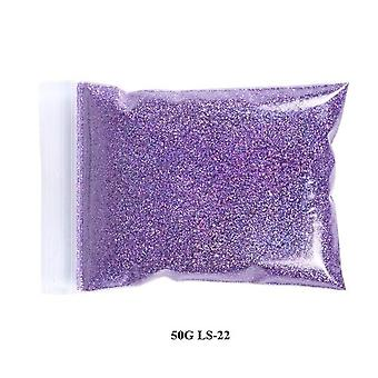 Fine Holographic Nail Glitter Powder - Laser Silver Nail Sequins Hexagon Shape